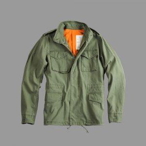 alpha industries vintage m65 olive jacket