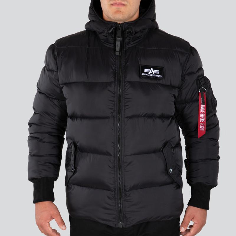 Hooded Puffer Alpha FD - black