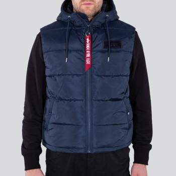 Hooded Puffer Vest FD - replica blue