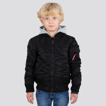 MA-1 Detachable Hood Kids - black
