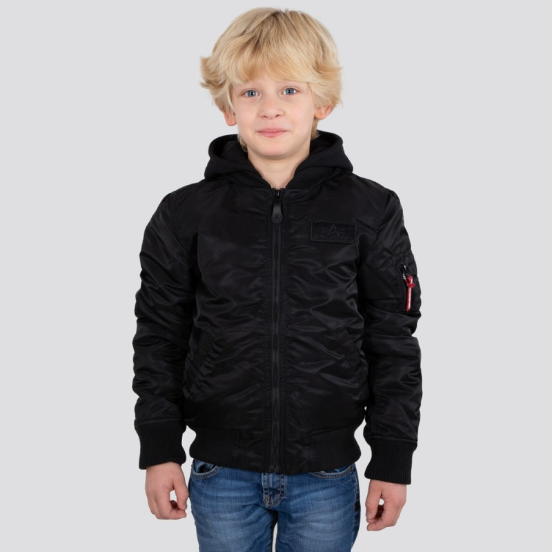 MA-1 Detachable Hood Kids - black/black
