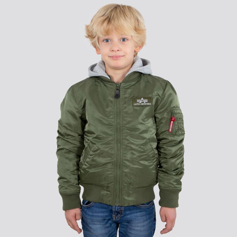 MA-1 Detachable Hood Kids - sage green
