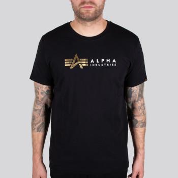 Alpha Label T Foil Print - fekete