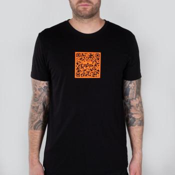 QR Code T - black/orange