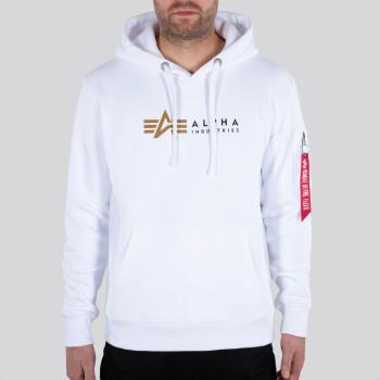 Alpha Label Hoody - fehér