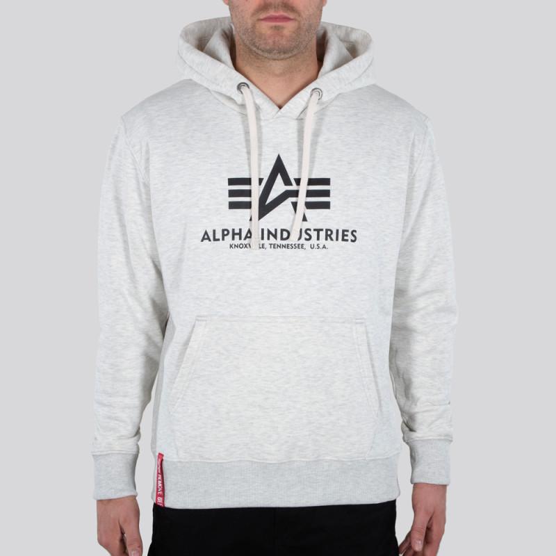 Basic Hoody - white melange