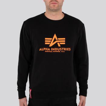 Basic Sweater Reflective Print - black/reflective orange