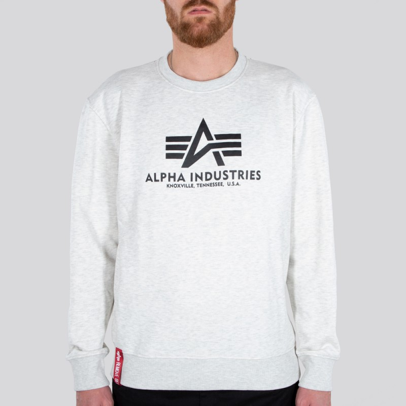 Basic Sweater - white melange