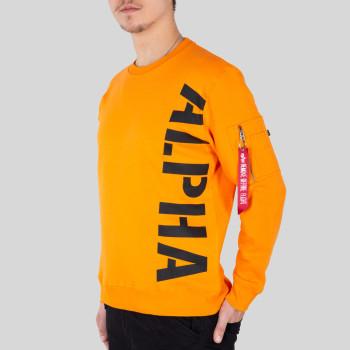 Side Print Sweater - alpha orange