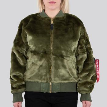 MA-1 OS Fur Woman - sage green