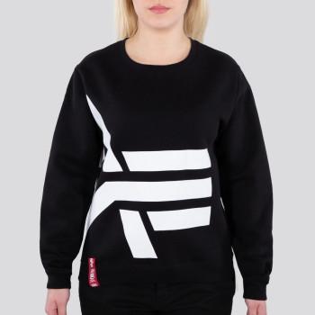 Side Logo Sweater Woman - black