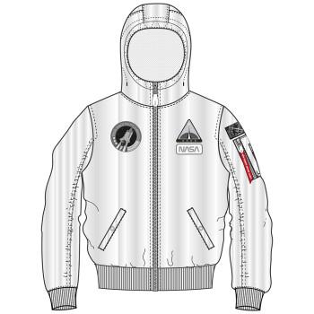 MA-1 LW Hooded NASA - fehér
