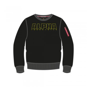 Alpha Embroidery Sweater Kids - black