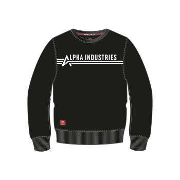 Alpha Industries Sweater Kids - black/white