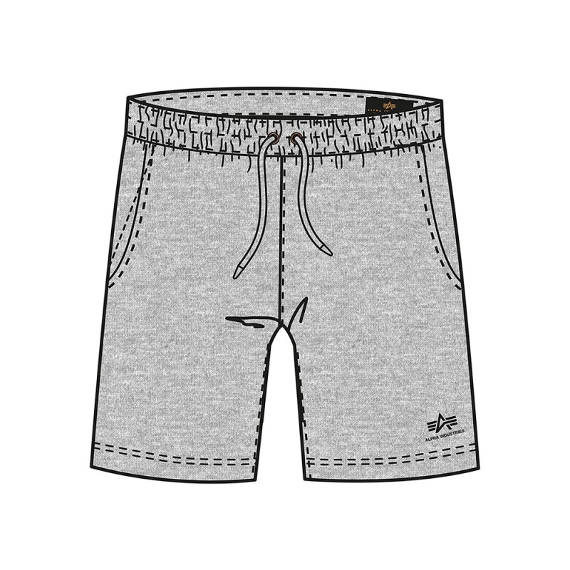 Basic Jogger Short SL Kids - grey heather