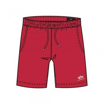 Basic Jogger Short SL Kids - speed red