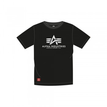 Basic T Kids Foil Print - black/metalsilver