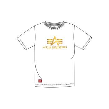 Basic T Kids Foil Print - white/yellow gold
