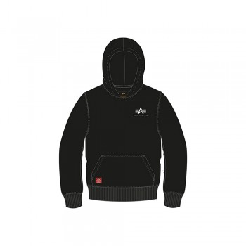Basic Hoody Small Logo Kids - black