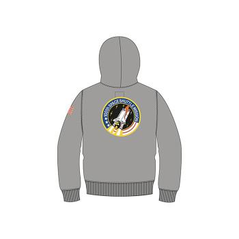 Space Shuttle Hoody Kids - grey heather