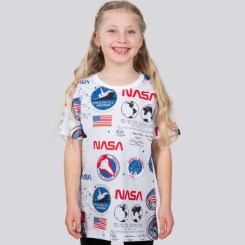 NASA AOP T-shirt Kids - fehér