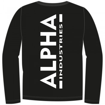 Back Print Heavy LS - black