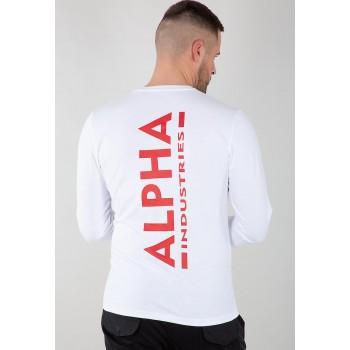 Back Print Heavy LS - white/red