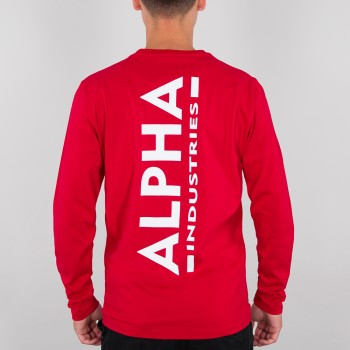 Back Print Heavy LS - speed red