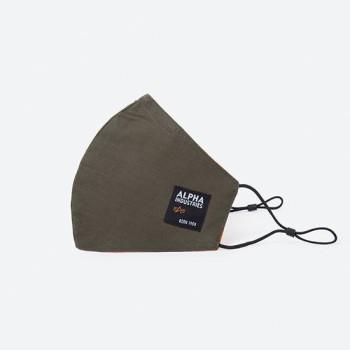Label Ripstop Facemask - dark olive