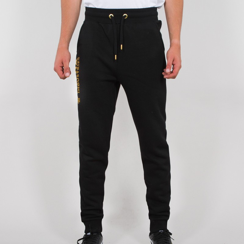 Basic Jogger AI Foil Print - black/yellow gold