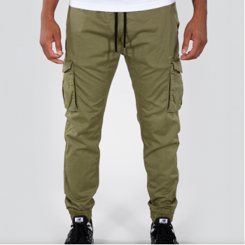 Cotton Twill Jogger - olive