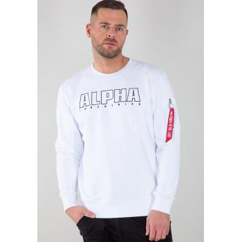 Alpha Embroidery Sweater - fehér