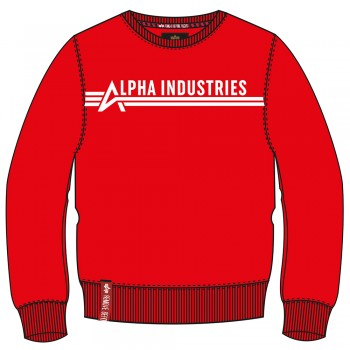 Alpha Industries Sweater - atomic red