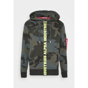 Big Letters Zip Hoody - black camo