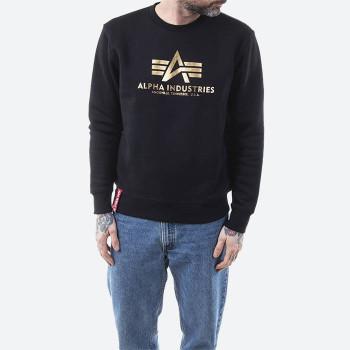 Basic Sweater Foil Print - black/yellow gold