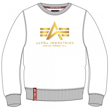 Basic Sweater Foil Print - white/yellow gold