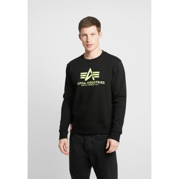 Basic Sweater - black/neon yellow