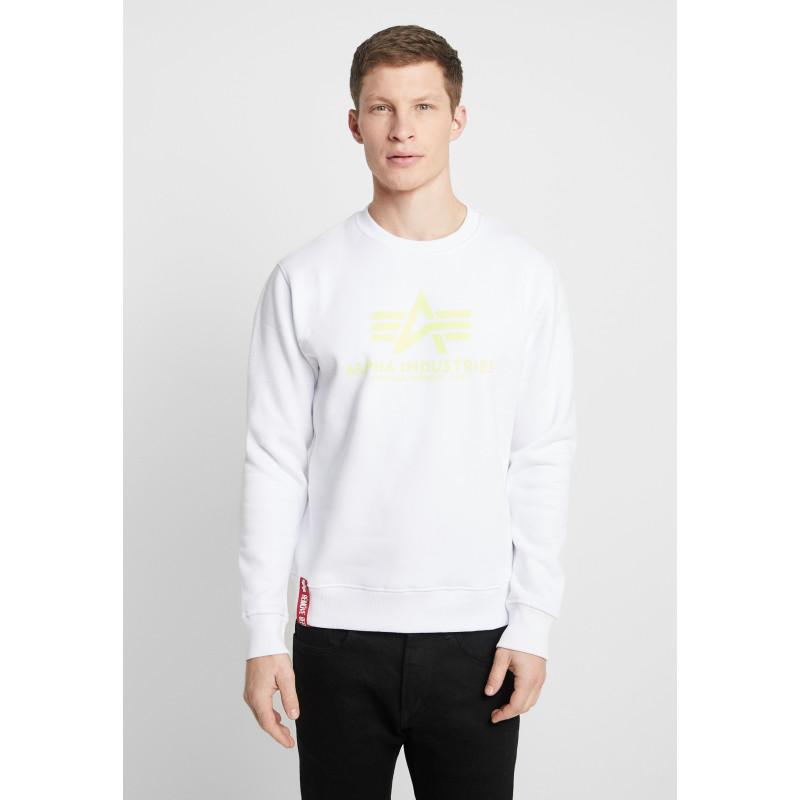 Basic Sweater - white/neon/yellow