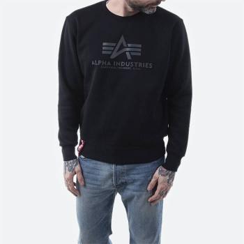 Basic Sweater Rainbow Reflective Print - black