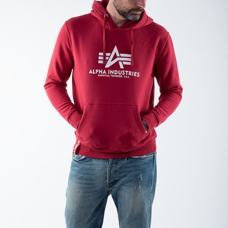 Basic Hoody - rbf red