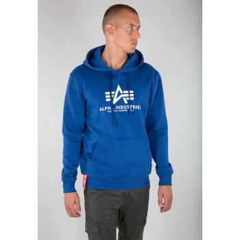 Basic Hoody - nasa blue