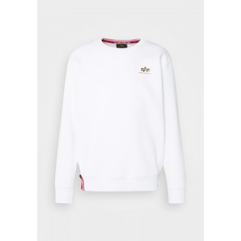 Basic Sweater Small Logo Foil Print - white/yellow gold