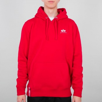 Basic Hoody Small Logo - speed red
