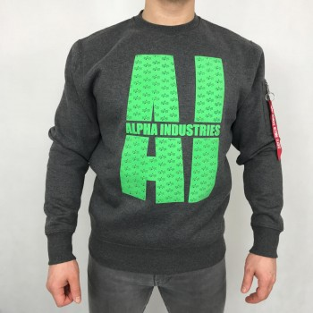AI Embossed Sweater - charcoal heather