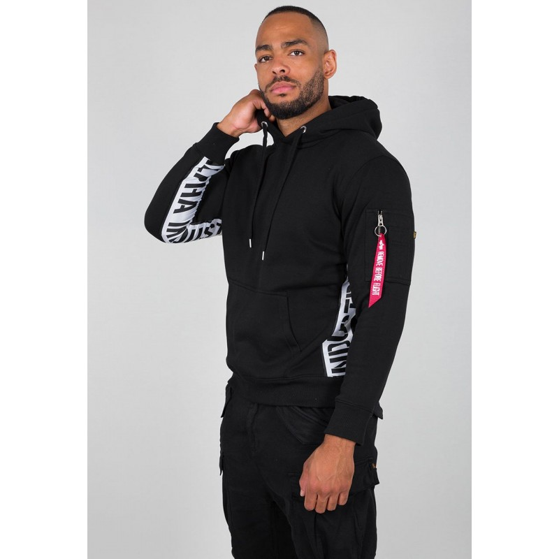 AI Inlay Hoody - black