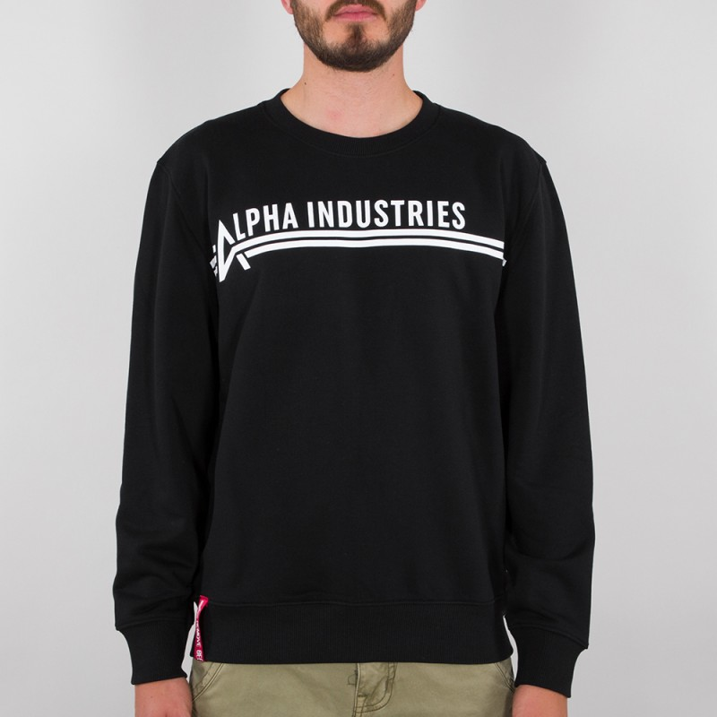 Alpha Industries Sweater - black/white