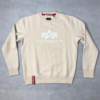 Basic Sweater - jet stream white/white