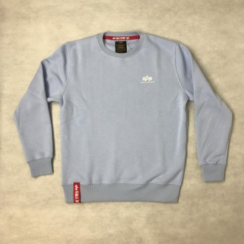 Basic Sweater Small Logo - light blue