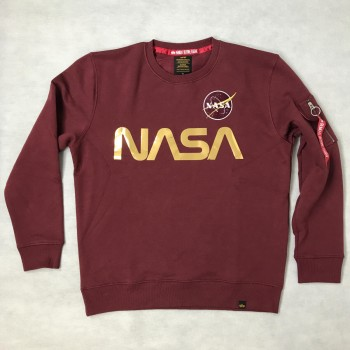 NASA Reflective Sweater - burgundy/shiny gold