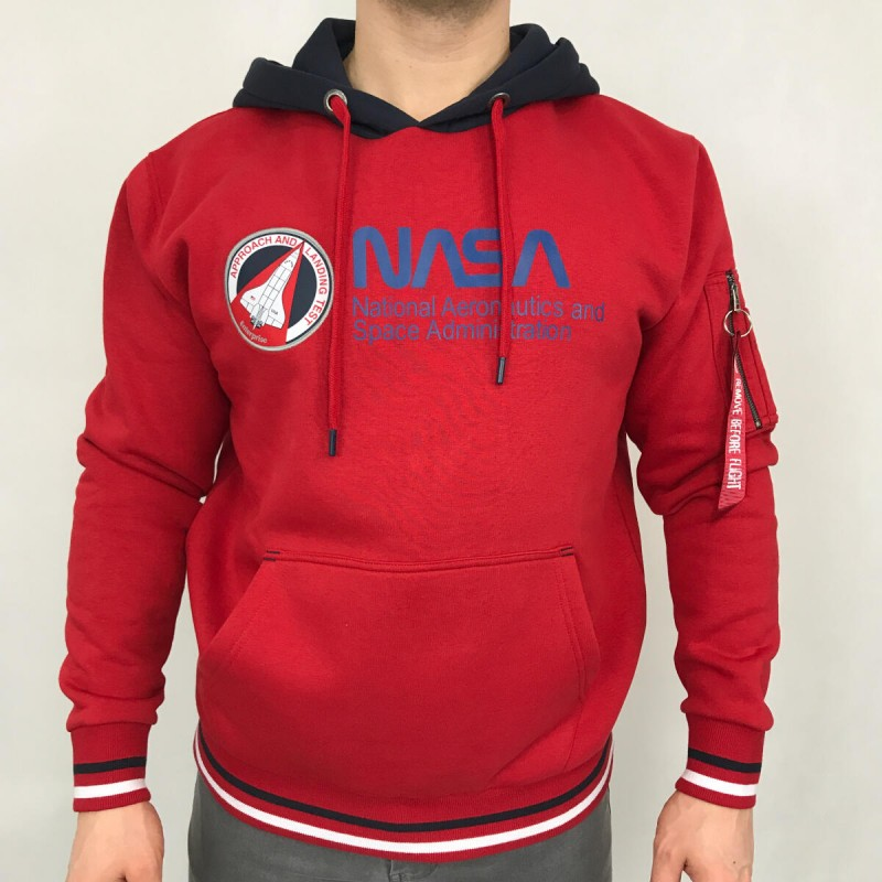 NASA Retro Hoody - speed red